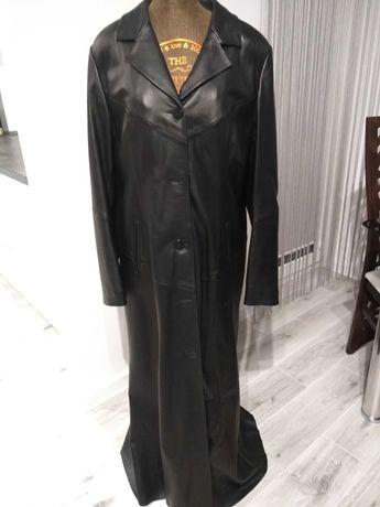Płaszcz skórzany czarny