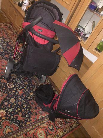 Срочно продам коляску АВС 3tec красно черную