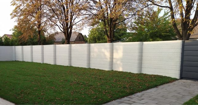 Крафтовый забор - новый бетонный забор, двусторонний еврозабор