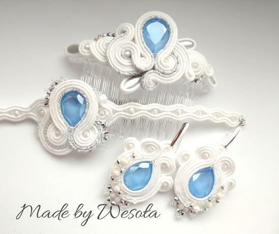 Biżuteria sutasz komplet ślubny
