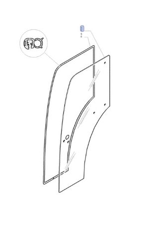 Szyba drzwi prawe New Holland T TN Case IH Quantum Steyr Kompakt