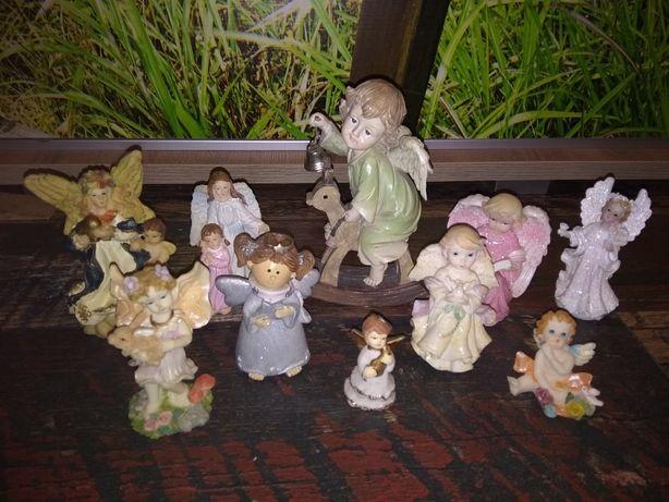 Porcelanowe aniołki 20 szt.