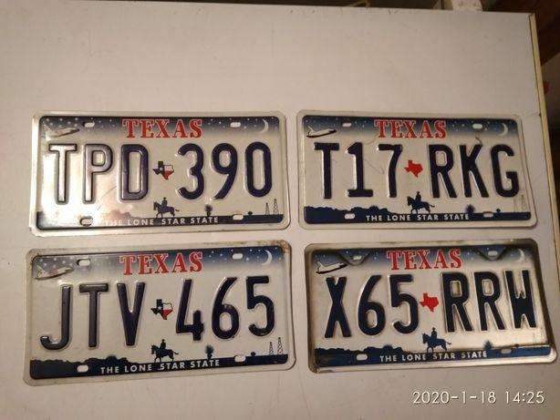 Stare kolekcjonerskie tablice rejestracyjne USA Texas