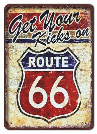 route 66 tabliczka metalowy szyld obrazek retro #01669