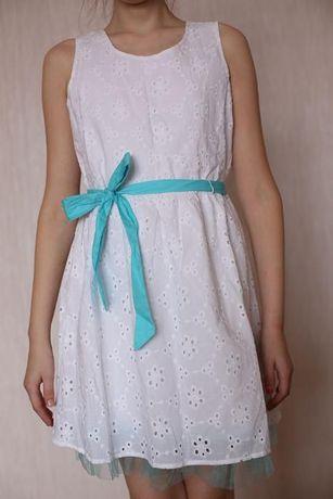 ПЛАТЬЕ белое новое, плаття, сукня Justice 10лет, выпускное