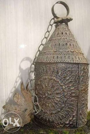 Candeeiro em chapa antigo estilo árabe perfurado