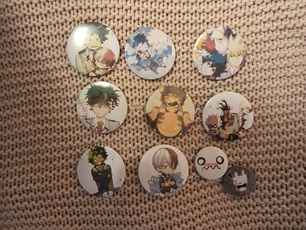 Przypinki z anime