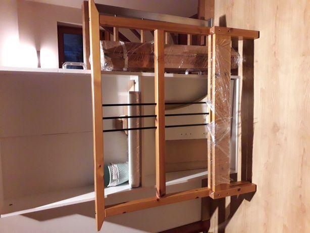 Łóżko stelaż drewniane Ikea Rykene