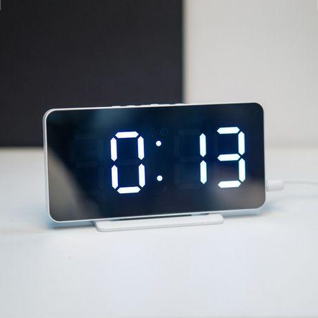 Настольные электронные часы с термометром, Led годинник, Led часы.