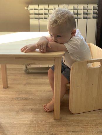 Комплект Детский Стол Столик Стул Стульчик MONTESSORI