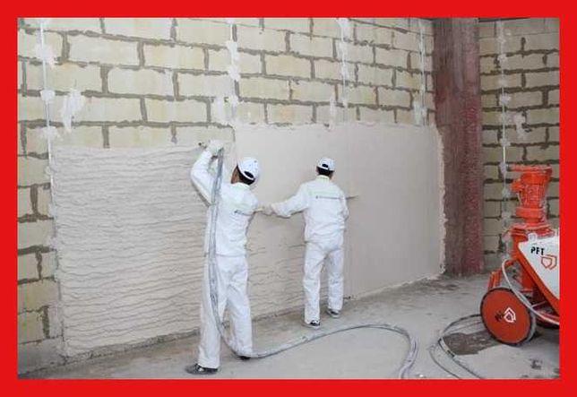 механическая штукатурка стен потолка откосов  220/380