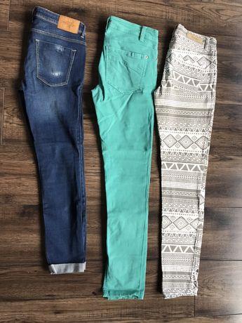 Spodnie Zara i Top Secret 3 pary roz 34/36