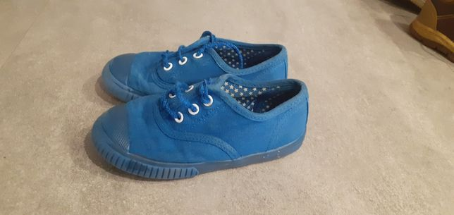 Tenisówki niebieskie mothercare rozmiar 25,5 buciki adidaski