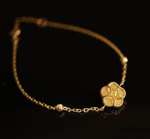 Złoto 585-złota bransoletka damska