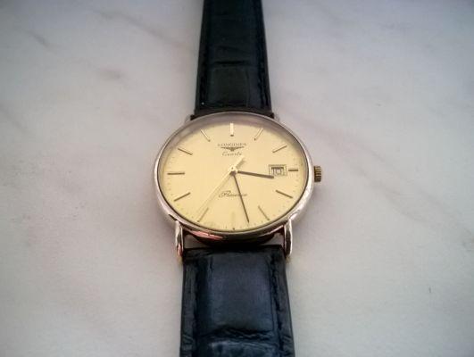 Oryginalny pozłacany zegarek męski Longines