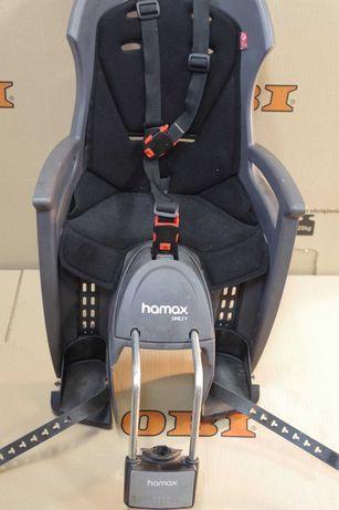 Fotelik rowerowy dla dziecka Hamax Smiley + mocowanie, stan dobry