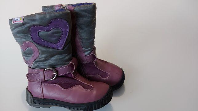 Buty dziecięce ocieplane zimowe rozmiar 23 ANTYLOPA