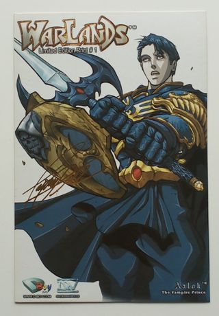 aalok the vampire prince warlands limited edition print #1