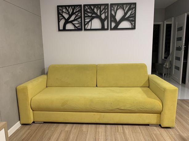 Sofa z funkcją spania ZÓŁTA