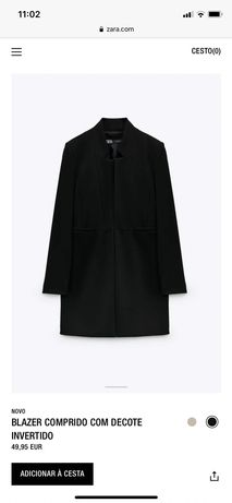 Blazer  comprido preto