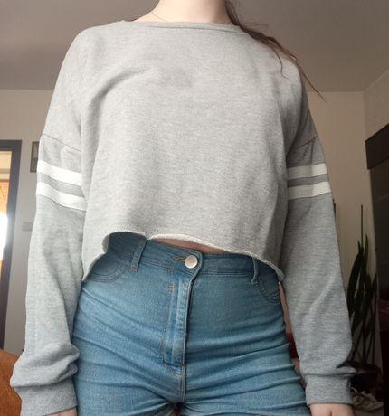 Szara bluza Crop top