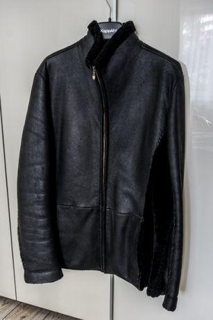 Мужская зимняя куртка дублёнка E.Ferretti (Italia) мех ягнёнка