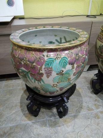 Vaso / cachepot porcelana chinesa