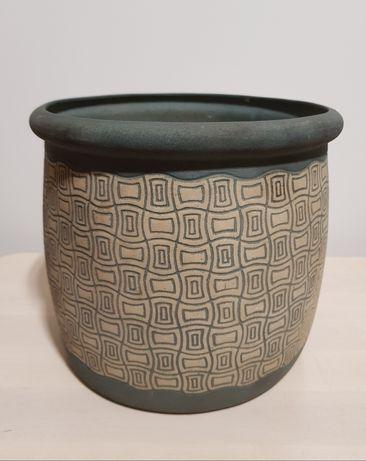 Doniczka duża donica dzbanek garnek vintage Prl retro ceramika