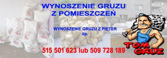 Wywoz gruzu ze znoszeniem z pięter Warszawa i okolice