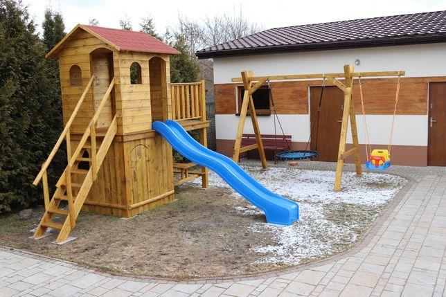 Plac zabaw Domek drewniany dla dzieci