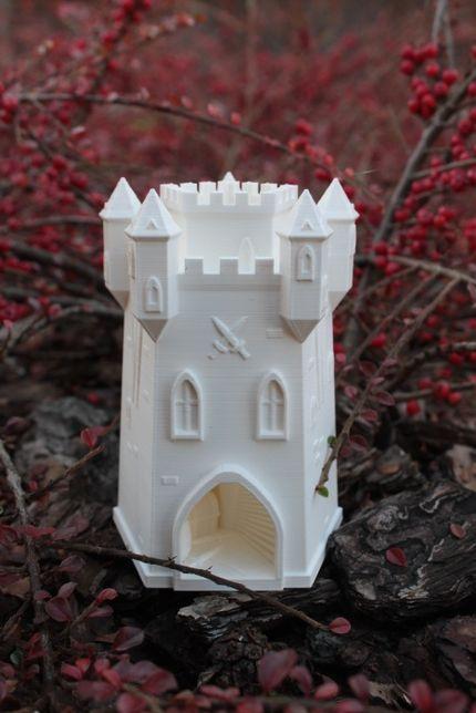 Dice Tower wieża do kości druk 3D gry planszowe biała