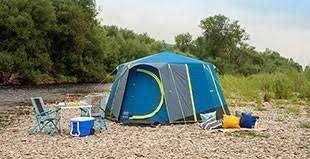 Coleman Cortes Octagon 8 Man Tent Blue / Lime - Model 2020