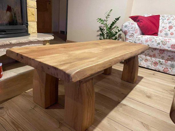 Stół kawowy lity drewniany dębowy