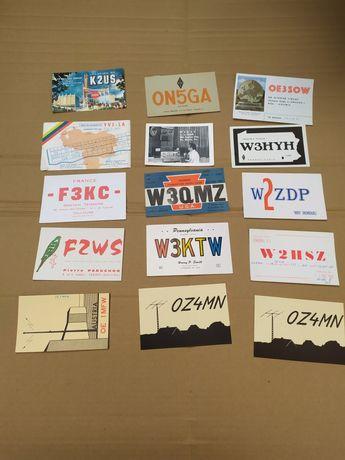 Kolekcja karty Qsl  ham krótkofalarskie 1964r.radio antyk ox3mn