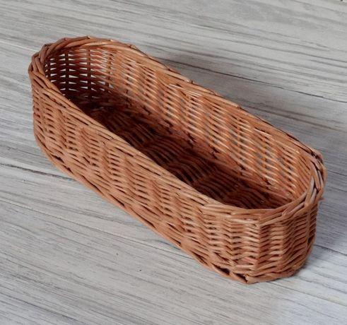 Wiklinowy koszyk na jajka, sztućce, drobiazgi i różności Nowy