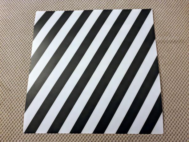 Podkładka IKEA w paski, czarny/biały, 37x37 cm