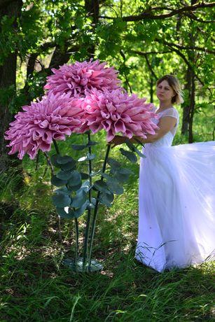 Ростовые цветы. Георгины из фоамирана
