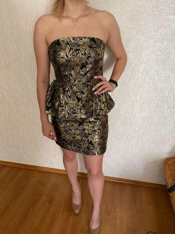 Вечерние платье золото