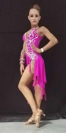 Платье латина для бальных танцев, 155-165 см. Юниоры 1, Юниоры 2