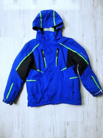 Синяя куртка горнолыжка на парня 10-12 лет