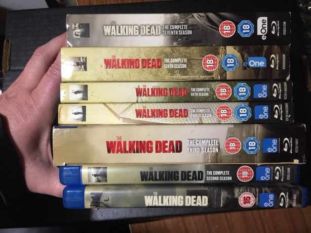 Walking dead temporadas 1 a 7 blu-ray