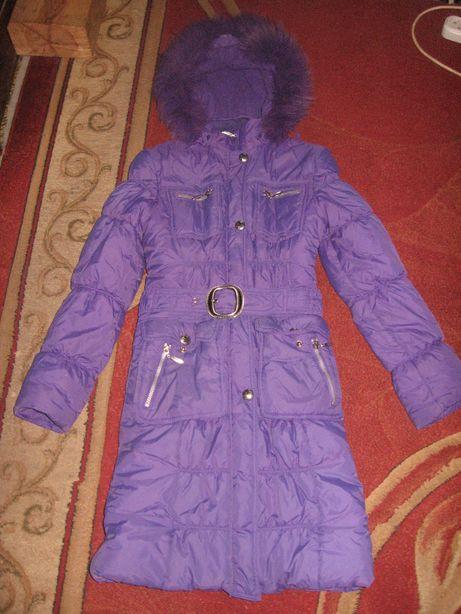 Зимнее пальто холофайбер на девочку-подростка