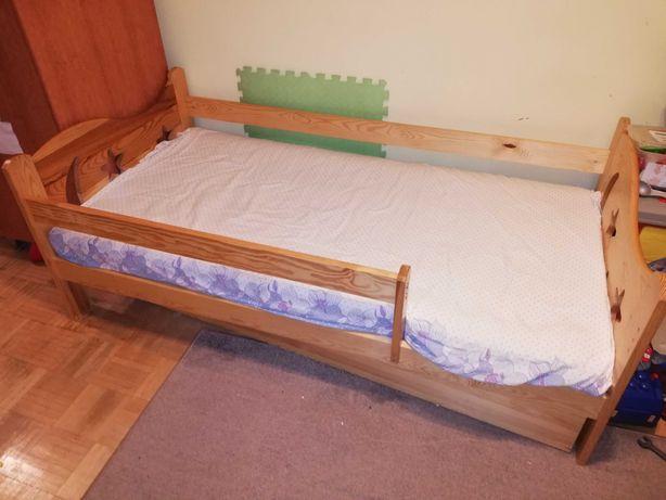 Łóżko dla dziecka, drewniane solidne 165/85