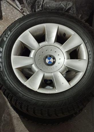 Оригинальные диски BMW 5*120 с зимней резиной Dunlop sp winter sport