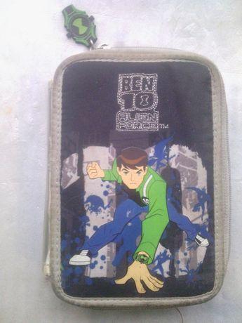 Чехол пенал для карандашей ручек Ben 10 детский кошелек кейс рюкзаки