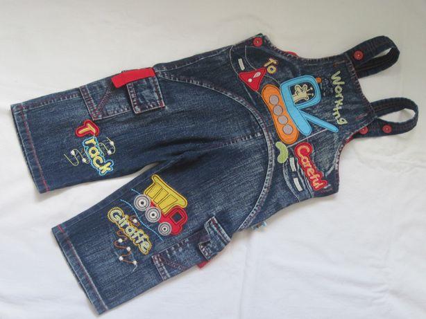 Классный джинсовый комбинезон комбез 6 мес.-1 год