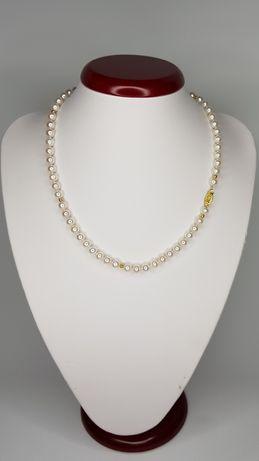 Ожерелье из жемчуга и золото 750