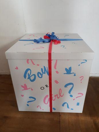 Подарок, коробка-сюрприз для шаров, с шариками