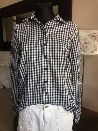 Koszula w kratę M 100% bawełna jak nowa