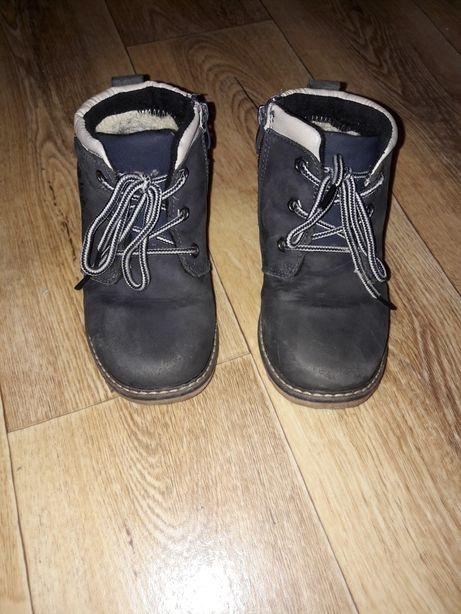 Зимние ботинки нубук, 19 см